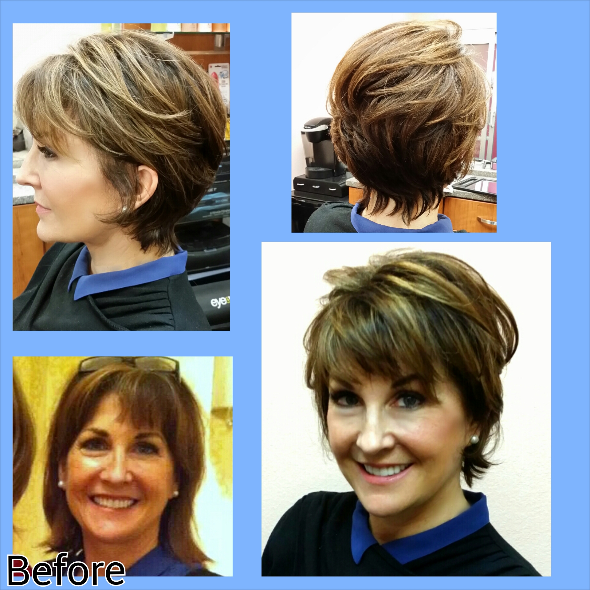 Fun Short Haircut Makeover Bliss Hair Salon