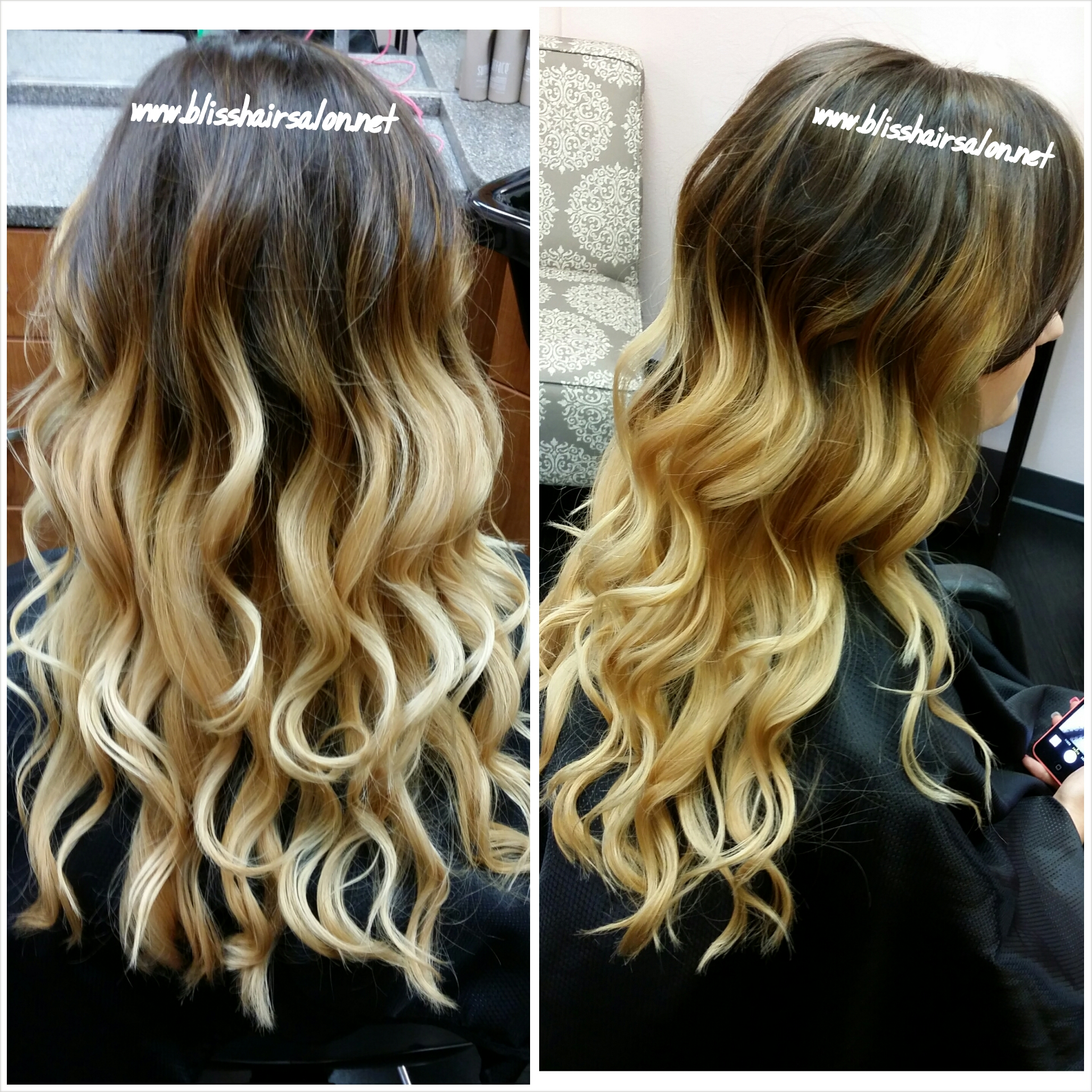 Dramatic Ombre Highlights Bliss Hair Salon